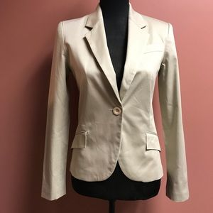 Zara Basic Light Kahki One Button Blazer